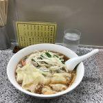 渋谷『喜楽』のもやしワンタン麺🍜と餃子🥟🥟🥟を食す  852